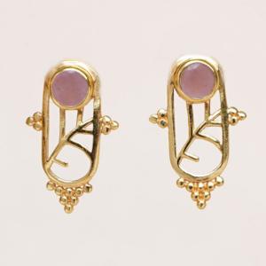 Muja Juma - Earrings 1611GB4 Peach Moonstone