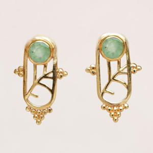 Muja Juma - Earrings 1611GB7 Prehnite