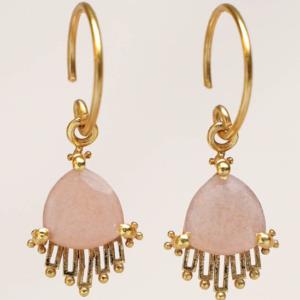 Muja Juma - Earrings 1639GB4 Peach Moonstone