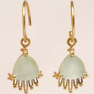 Muja Juma - Earrings 1639GB7 Prehnite