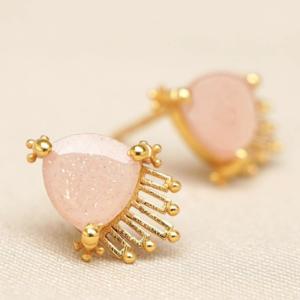 Muja Juma - Earrings 1640GB4 Peach Moonstone