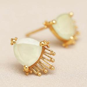 Muja Juma - Earrings 1640GB7 Prehnite