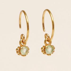 Muja Juma - Earrings 1665GB15 Prehnite