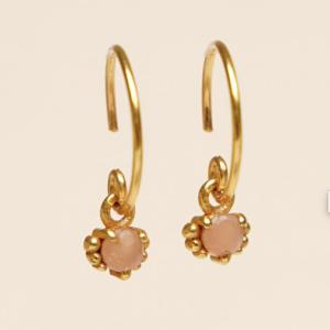 Muja Juma - Earrings 1665GB4 Peach Moonstone