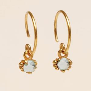 Muja Juma - Earrings 1665GB9 Blue Topaz