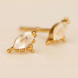 Muja Juma - Earrings 1667GB1 Moonstone