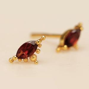 Muja Juma - Earrings 1667GB8 Garnet
