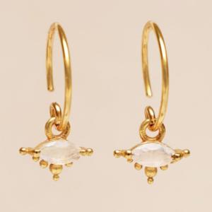 Muja Juma - Earrings 1668GB1 Moonstone