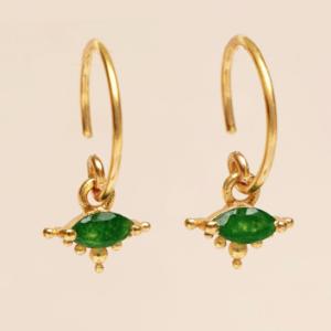 Muja Juma - Earrings 1668GB15 Nefrite