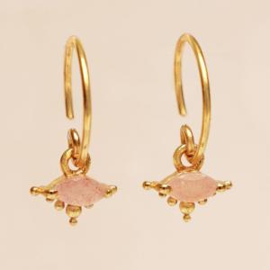 Muja Juma - Earrings 1668GB4 Peach Moonstone