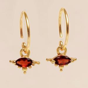Muja Juma - Earrings 1668GB8 Garnet
