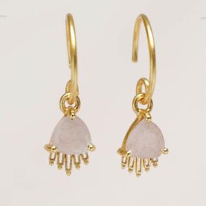 Muja Juma - Earrings 1697GB4 Peach Moonstone