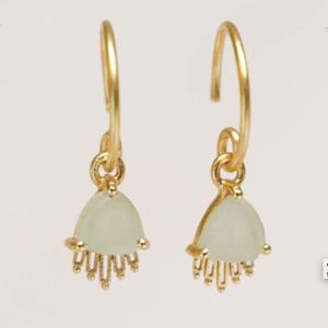 Muja Juma - Earrings 1697GB7 Prehnite