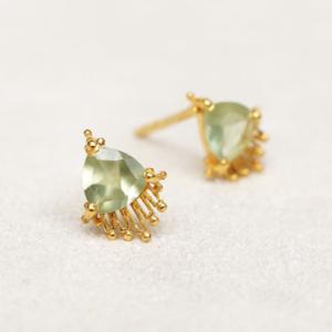Muja Juma - Earrings 1698GB7 Prehnite