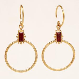 Muja Juma - Earrings 1730GB8 Red Jasper